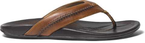 Olukai Mea Ola Men's Tan / Dark Java Sandals - SURF WORLD