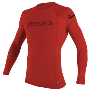 Oneill YOUTH BASIC SKINS Rashguard  L/S CREW 3446 UPF 50+ - Red SURF WORLD