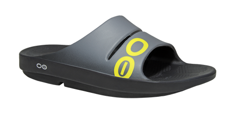 Oofos Ooah Sport Slide Mens Sandals - Grey