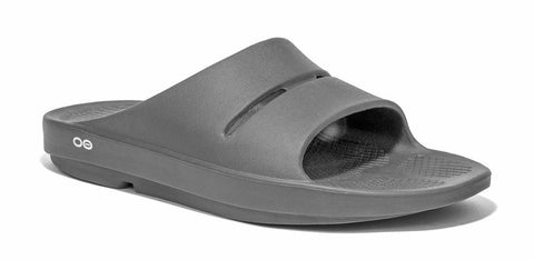 OOFOS Ooahh Slide Mens Slip On Sandals - Slate Grey
