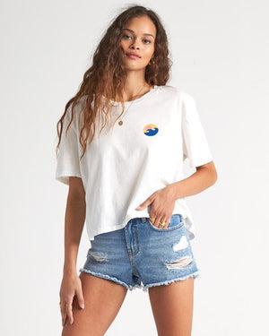 Billabong Party Waves Womens T Shirt - Salt Crystal