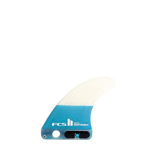 FCS 2 Performer PC Large Longboard Centre Fin - Teal SURF WORLD