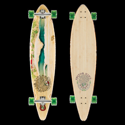 Sector 9 Puerto Complete Longboard Skateboard BBF154C - SURF WORLD Florida