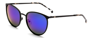 Otis Rumours Reflect Sunglasses - Matte Black Flash Mirror Violet Sunglasses