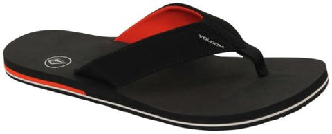 Volcom Victor Sandals in Black Top