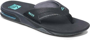 Reef Fanning Black Neon Blue Sandals