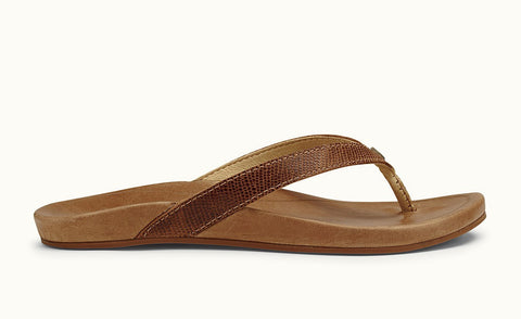 Olukai Hi'ona Tan Tan Women's Leather Sandals 202873434 - SURF WORLD Fort Lauderdale Florida