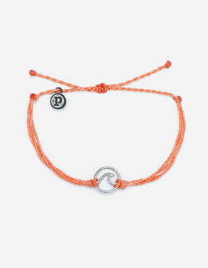 Pura Vida Wave Charm Bracelet - Salmon SURF WORLD