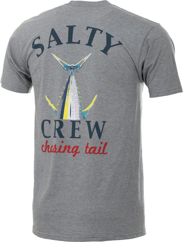 Salty Crew Chasing Tail Graphite Heather Tee - Graphite - Navy Heather