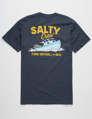 Salty Crew Cruiser Premium Tee - Harbor Blue