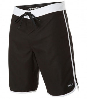 Boys Oneill Santa Cruz Scallop Boardshorts Black SURF WORLD