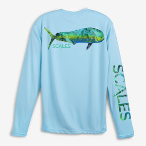 Scales Tropical Mahi Pro Performance Shirt - Seafoam