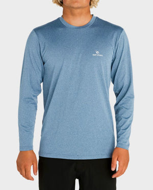 Rip Curl Search Series LS Mens Rashguad - Blue SURF WORLD