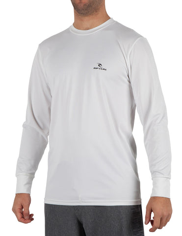 Rip Curl Search Series Mens LS Rashguard - White