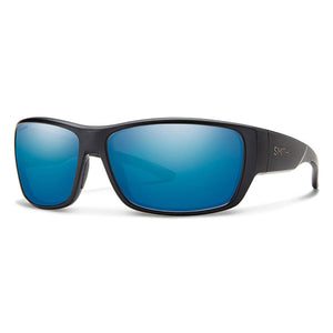 Smith Forge Matte Black Blue Mirror Carbonic Polarized Lens Sunglasses
