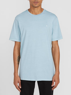 Volcom Solid Stone SS Emblem Mens T Shirt - Cool Blue