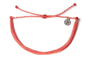 Pura Vida Bracelet - Solid Coral SURF WORLD