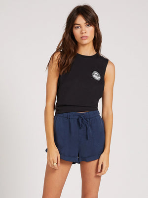 Volcom Sunday Strut Womens Short - Dark Navy
