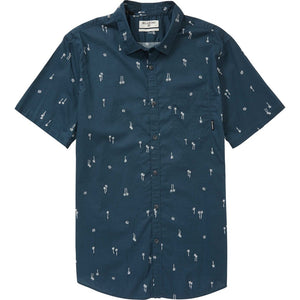 Billabong Sundays Mini SS Mens Woven Shirt -  Navy SURF WORLD