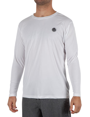 Rip Curl Search Surflite Mens LS Loose Fit Rashguard - White