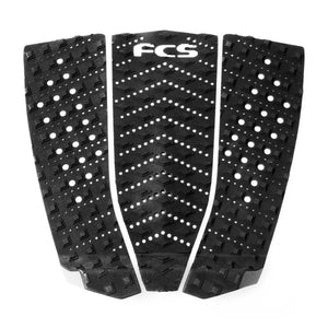 FCS T-3 Wide Surfboard Traction Pad - Black Charcoal SURF WORLD