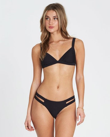 Billabong Tanline Isla Bikini Bottom - Black Pebble