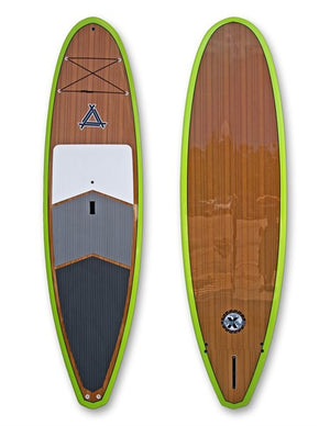 Triple X  Zion 9'11 SUP Board Package Teak Green Board Paddle and Bag SURF WORLD