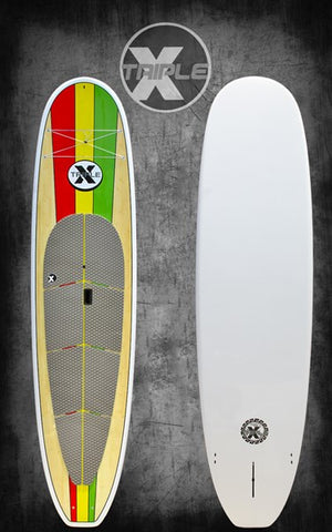 Triple X 10'6 Kontrol Rasta Paddle Board Package Board, Paddle and Bag - SURF WORLD Florida