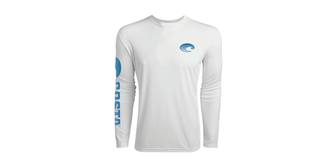 Costa Technical Crew Long Sleeve Rashguard Sun Protection White