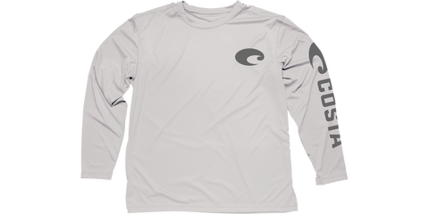 Costa Technical Core Long Sleeve Shirt UV Protection - Gray - SURF WORLD Fort Lauderdale Florida