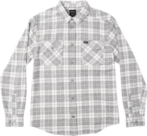 RVCA Thatll Work LS Mens Paid Flannel Shirt - Antique White - SURF WORLD Fort Lauderdale Florida