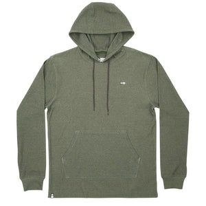 Salty Crew Dockman Thermal Pullover Hoodie - Military