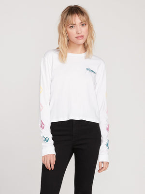 Volcom The Volcom Stones LS Womens T Shirt - White