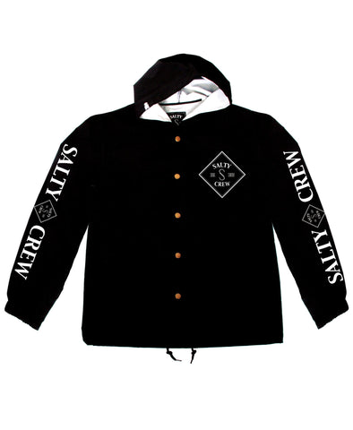 Salty Crew Tippet Snap Jacket - Black - SURF WORLD Fort Lauderdale Florida