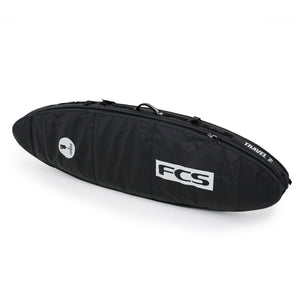 "FCS Travel 2 All Purpose 6'3"" Surfboard Bag - Black Grey SURF WORLD"