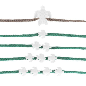 Wanderer Baby Sea Turtle 4 Bracelet - sea green / Navy SURF WORLD