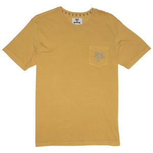 Vissla Twisted Times SS Mens Pocket T Shirt - Golden Hour