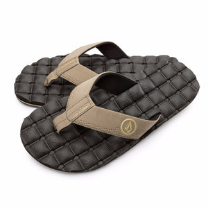 Volcom Men's Recliner Comfort Foam Sandals - Khaki SURF WORLD