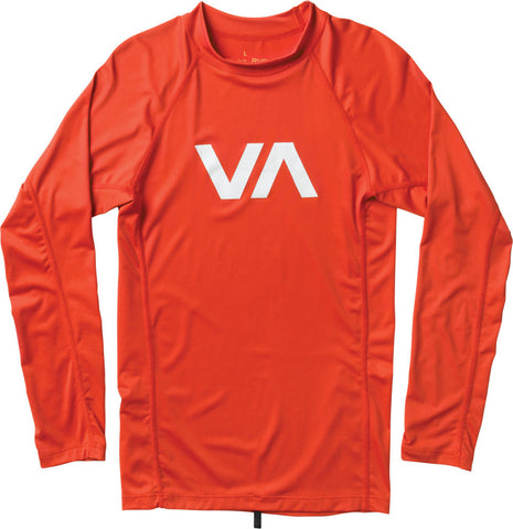 RVCA Boys VA Long-Sleeve Rashguard in LVA  BBR01VAA-LVA - SURF WORLD Florida