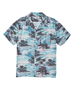 Billabong Vacay Print SS Mens Wovwen T Shirt - Aqua SURF WORLD