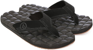 Volcom Men's Recliner Sandals - Black Destructo SURF WORLD