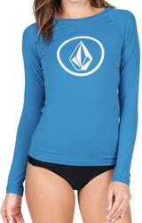 Volcom Simply Solid LS Women's Rashguard Bold Blue O4211505BDL - SURF WORLD Fort Lauderdale Florida