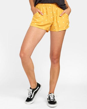 RVCA Suggest Dot Print Shorts - Amber