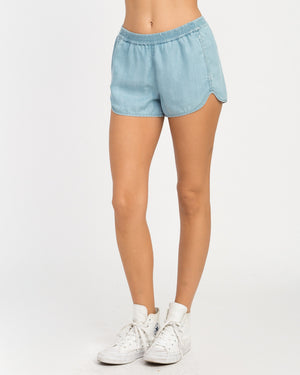 RVCA Coastal Womens Shorts - Chambray SURF WORLD