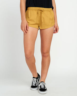 RVCA Cut Corners Soft Shorts - Camel SURF WORLD