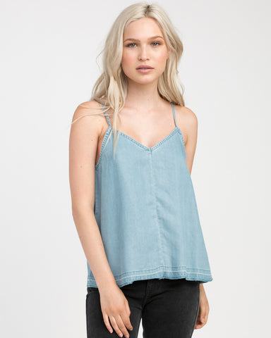 RVCA Raided Womens  Tank Top - Chambray