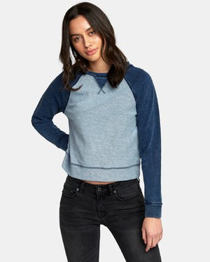 RVCA Swing It Fleece Sweatshirt Top - Indigo