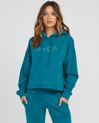 RVCA Womens Pinner Cropped hoodie - Spruce