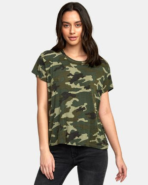 RVCA Suspension 3 Women's Knit Shirt - Camo