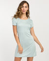 RVCA Wallflower Tee Shirt Dress - Cloud Blue SURF WORLD